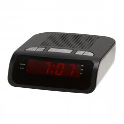 Clockradio med FM (LED) Sort - Denver CR-419