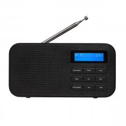 Bærbar DAB+ radio (m-alarm) Sort - Denver DAB-42