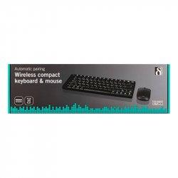 Trådløst tastatur og mus - Kompakt Design