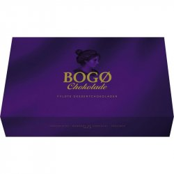Bogø Chokolade fyldte dessertchokolader i lilla æske 190 g.