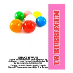Shake N Vape  US Bubblegum   30ml.