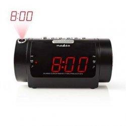 Digital Clockradio med Vækkeur og Projektor  0,9 LED  FM  Dobbelt Alarm  Snooze