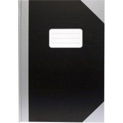 Kinabog A6, linjeret, sort Sølv