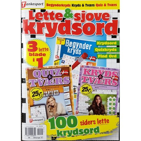 Lette & Sjove Krydsord