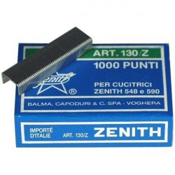 Hæfteklammer Zenith stålklammer - 130E 1000 stk i æsken
