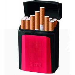 Gizeh Flip Top King Size cigaret etui - hård plast Kort Model