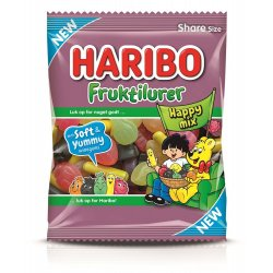 Haribo Fruktilurer Happy Mix 120 gr