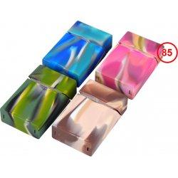 Cigaret Etui silikone farvet marmoreret
