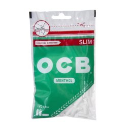 Cigaretfiltre OCB Slim Menthol 120 Stk