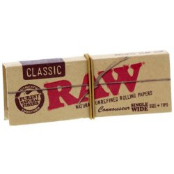RAW Connoisseur Classic Papers Wide Jeans