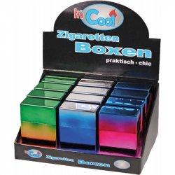 Cigaret Etui Kort m Click Rainbow farver