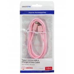 Sinox One USB-C til USB kabel. 1,0 meter. Sort