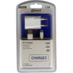 iMedia USB Oplader Med Micro USB Kabel. Hvid. 2.1 Ah