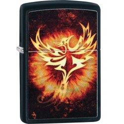 "Org.ZIPPO Sort Mat Farve ""Phoenix"""