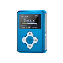 MP3 afspiller med LCD skærm - Sølv