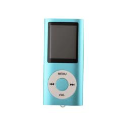 Slim MP3 Afspiller Med LCD Skærm - Blå