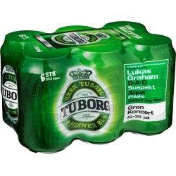 Tuborg Grøn 6-pak 33 cl