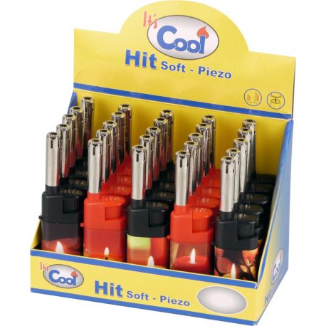 "ATOMIC Mini Lighter Piezo 10 cm ""Sort + Hvid"""