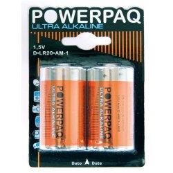 Batteri Powerpaq D LR20 2-pk