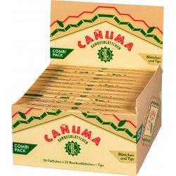 CANUMA King Size Bambus Cigaretpapir Slim + Tips