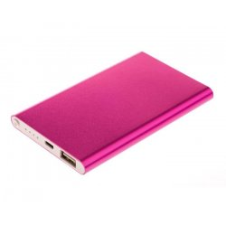 GreyLime Power Slim, 4000 mAh powerbank, Magenta