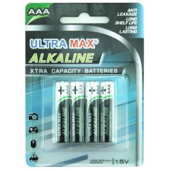 Ultra MAX Alkaline Batteri AAA 4 stk