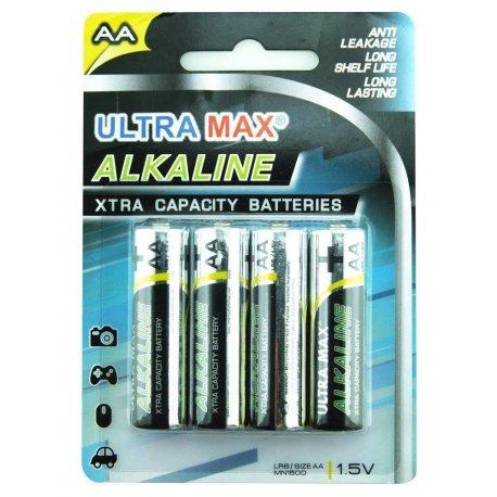 Ultra MAX Alkaline Batteri AA 4 stk